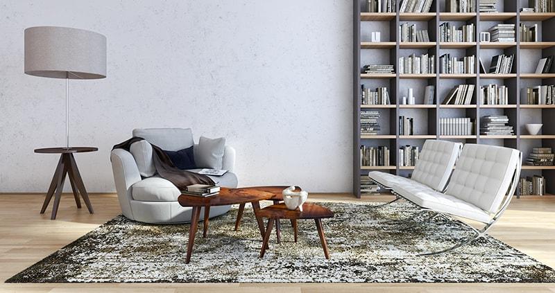 Wohnzimmer mit Polstermöbeln